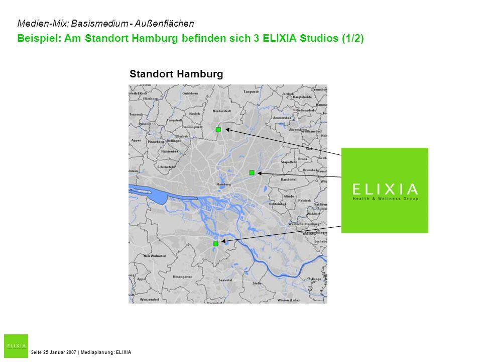 Beispiel: Am Standort Hamburg befinden sich 3 ELIXIA Studios (1/2)