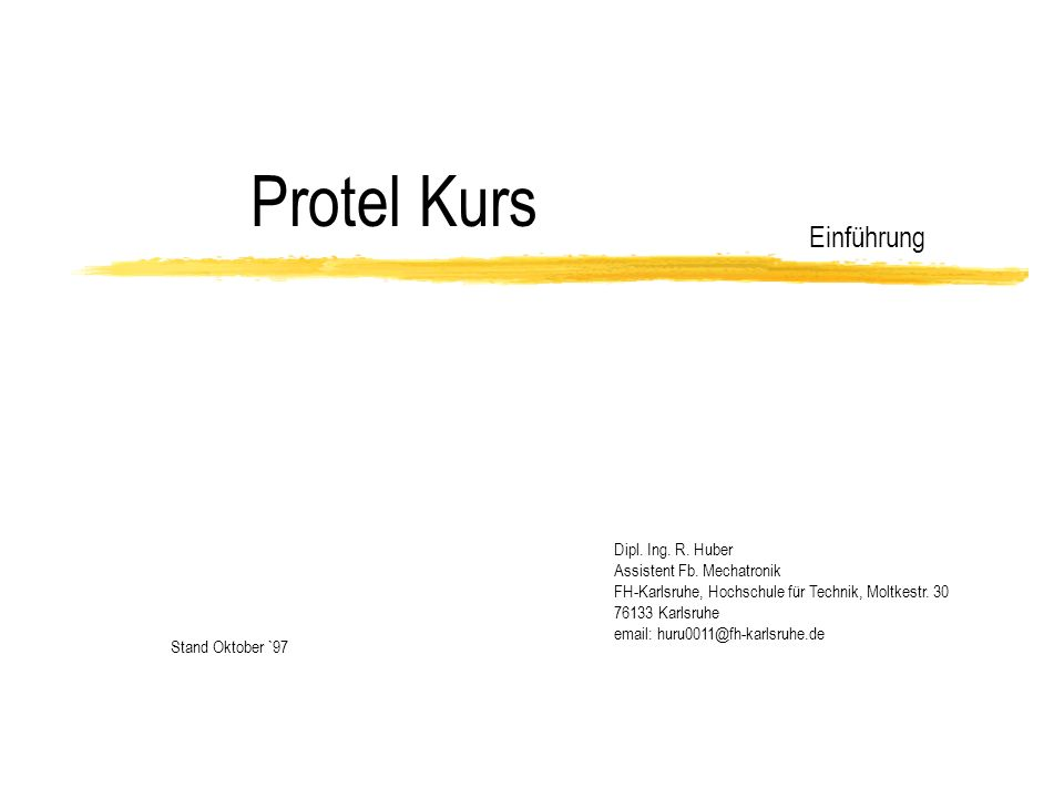 Deckblatt: Begrüßung Vortragsdauer