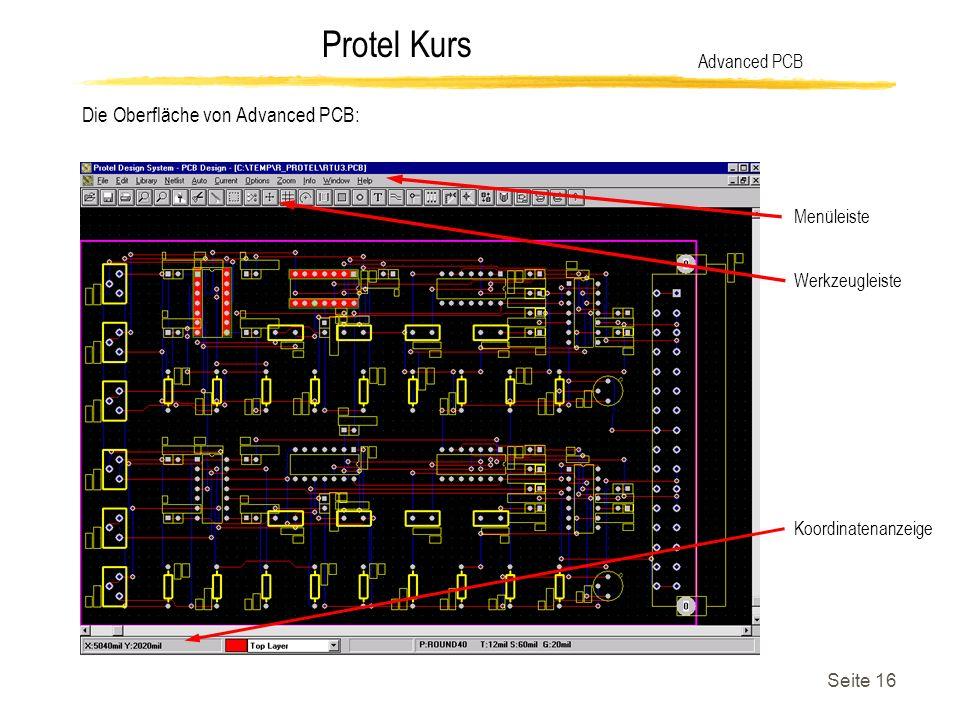 Die Oberfläche von Advanced PCB: