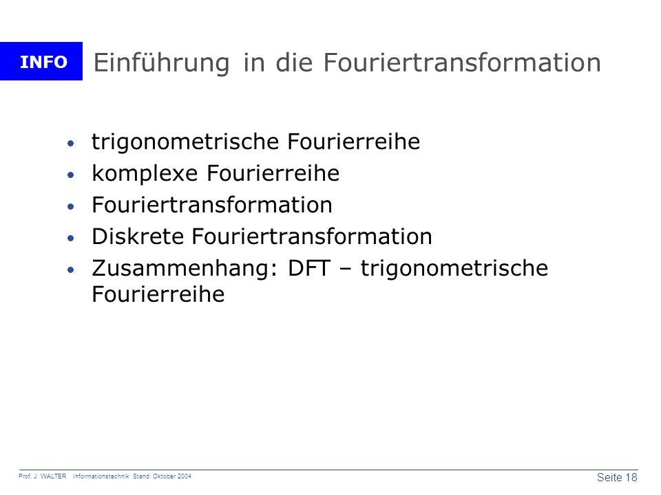 Einführung in die Fouriertransformation