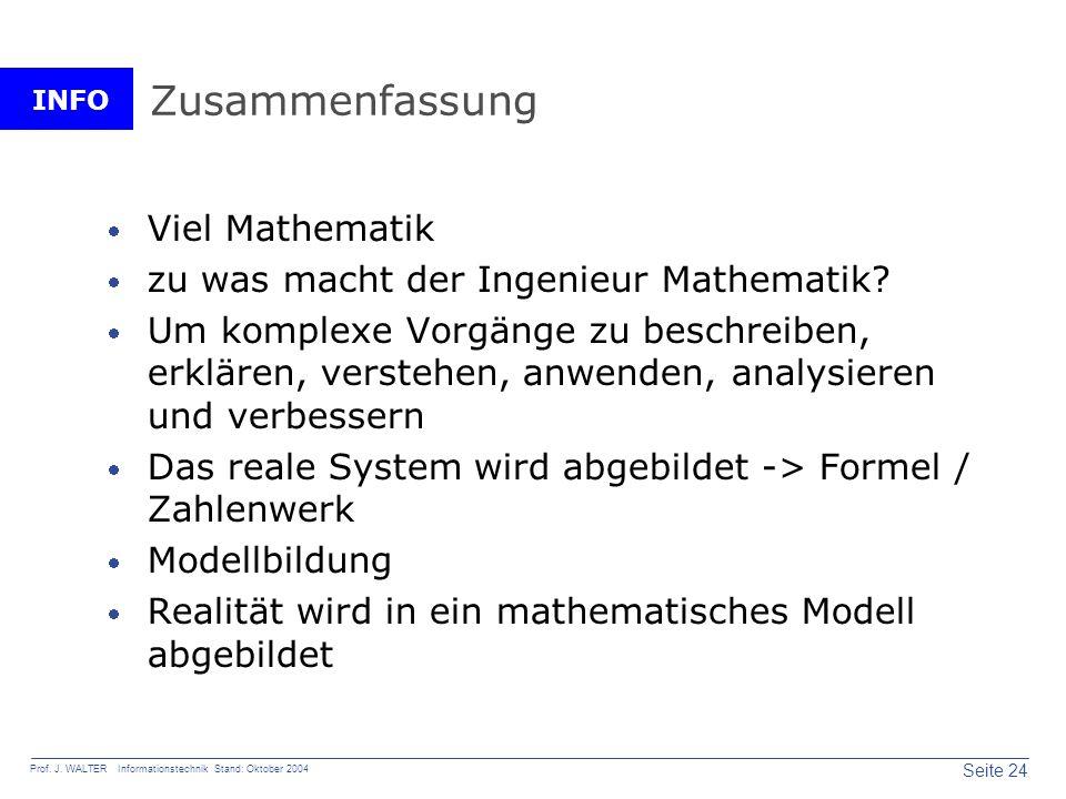 Zusammenfassung Viel Mathematik zu was macht der Ingenieur Mathematik