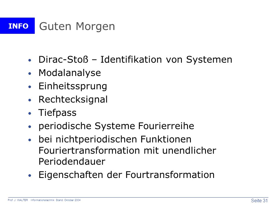 Guten Morgen Dirac-Stoß – Identifikation von Systemen Modalanalyse
