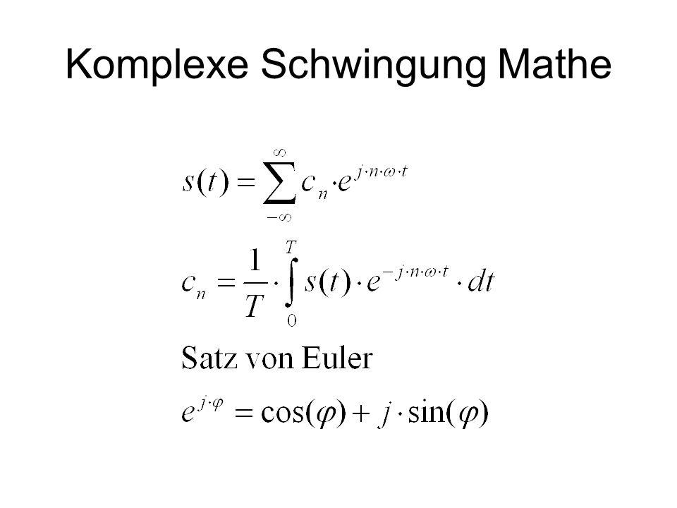 Komplexe Schwingung Mathe