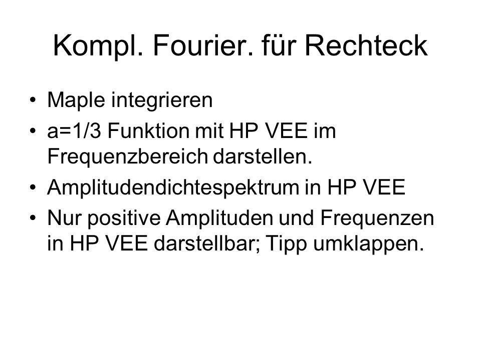 Kompl. Fourier. für Rechteck