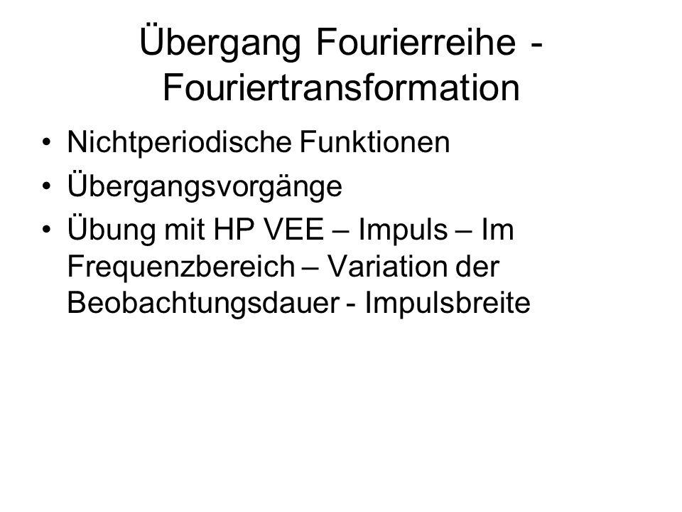 Übergang Fourierreihe - Fouriertransformation