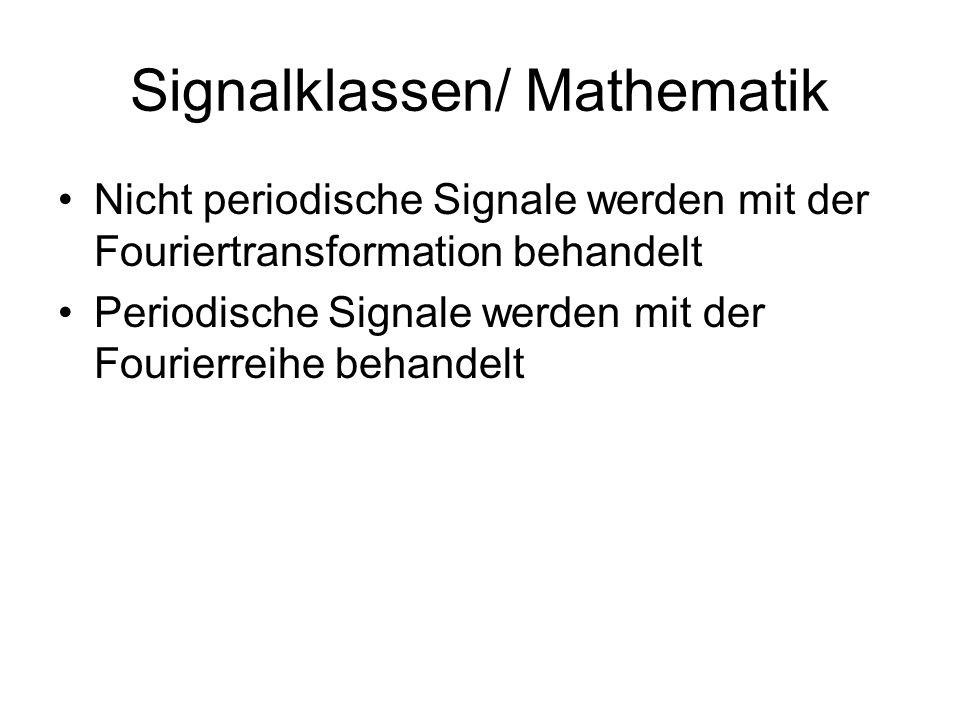 Signalklassen/ Mathematik