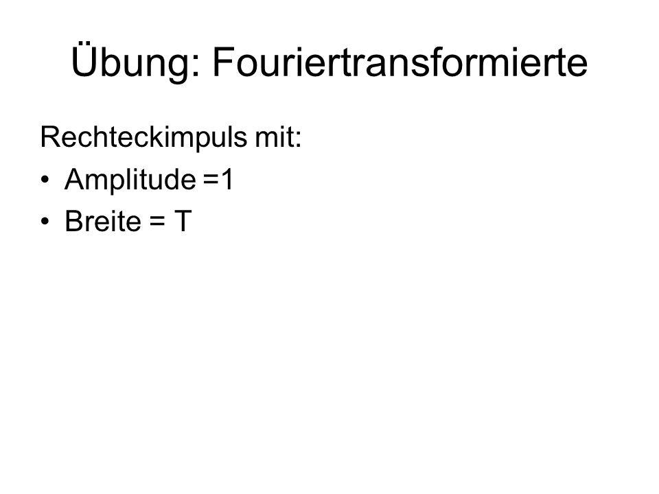 Übung: Fouriertransformierte