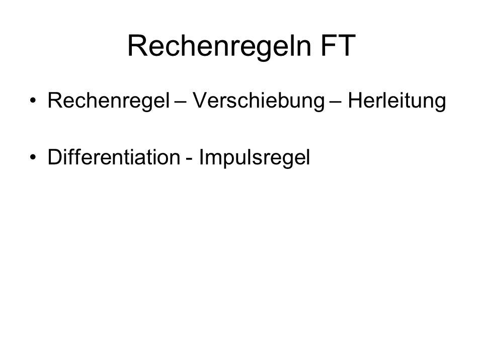 Rechenregeln FT Rechenregel – Verschiebung – Herleitung