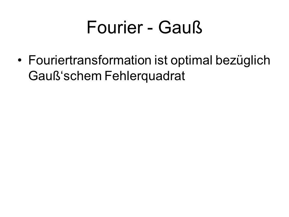 Fourier - Gauß Fouriertransformation ist optimal bezüglich Gauß'schem Fehlerquadrat