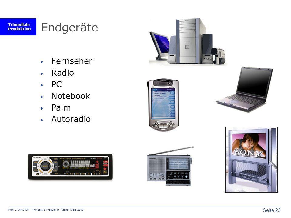 Endgeräte Fernseher Radio PC Notebook Palm Autoradio