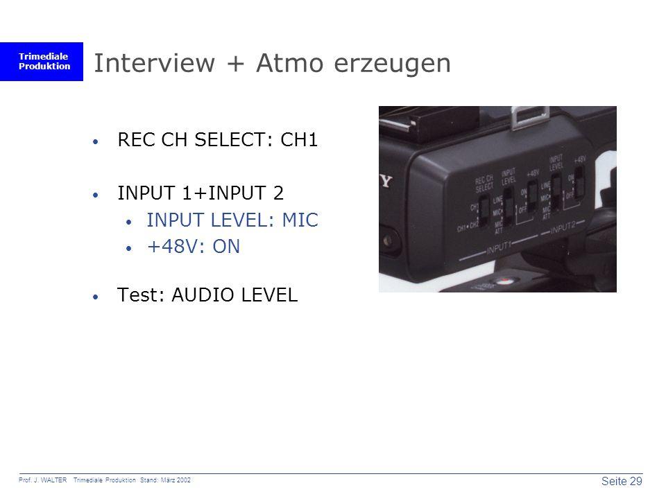 Interview + Atmo erzeugen