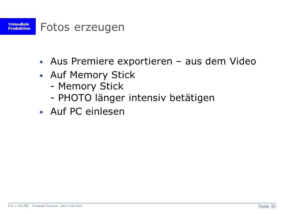 Fotos erzeugen Aus Premiere exportieren – aus dem Video