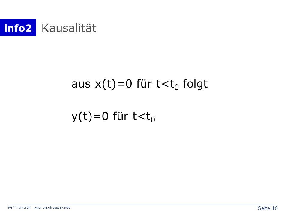 Kausalität aus x(t)=0 für t<t0 folgt y(t)=0 für t<t0