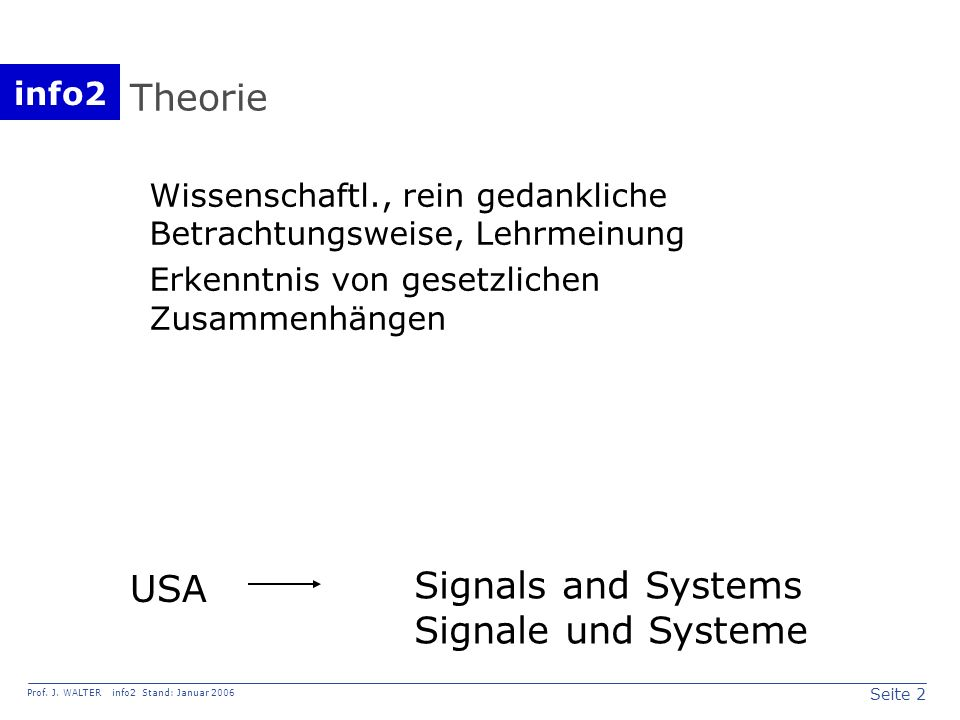 Signals and Systems Signale und Systeme