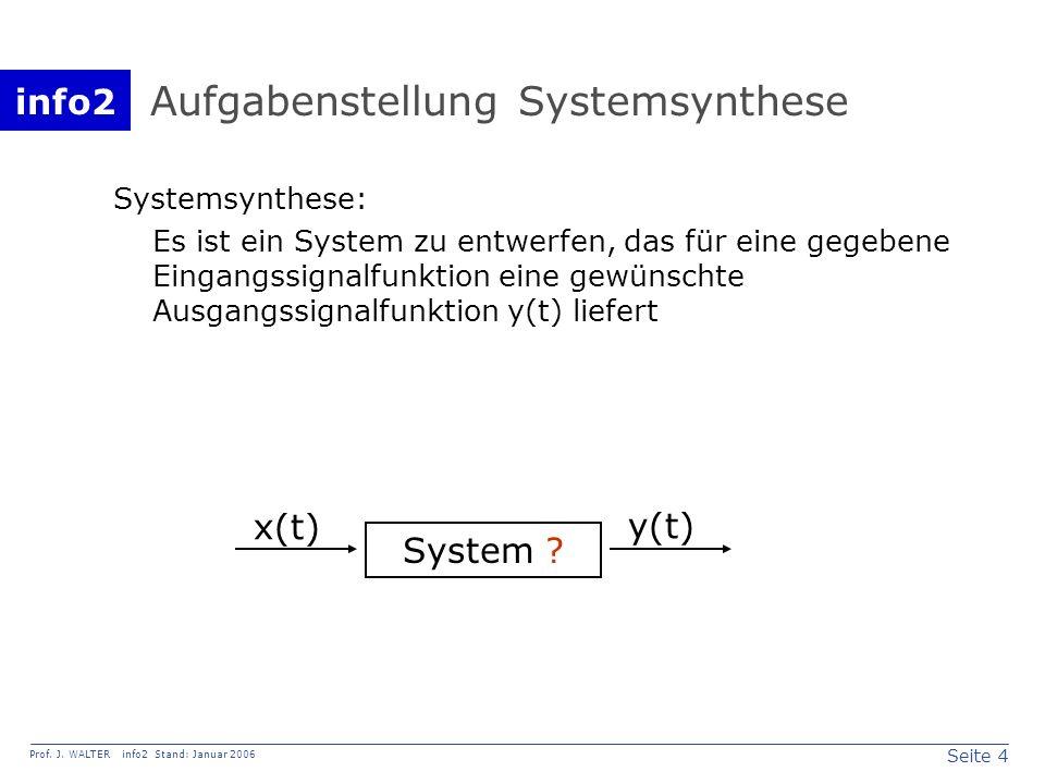 Aufgabenstellung Systemsynthese