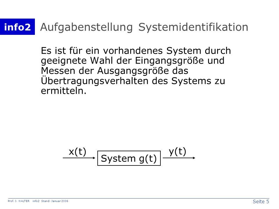 Aufgabenstellung Systemidentifikation
