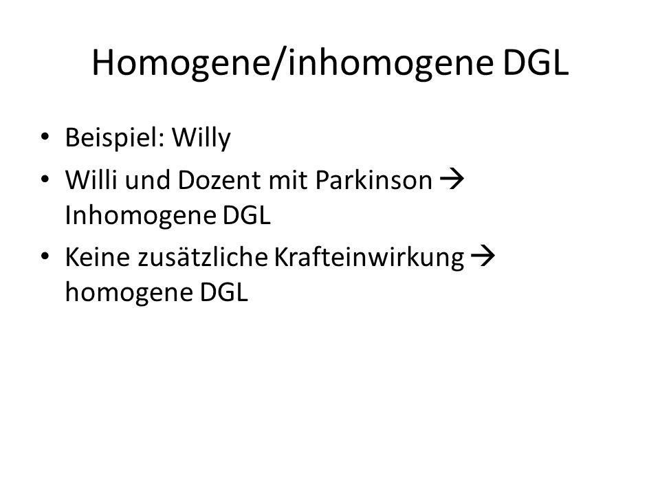 Homogene/inhomogene DGL
