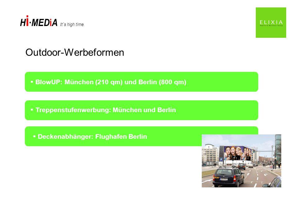 Outdoor-Werbeformen BlowUP: München (210 qm) und Berlin (800 qm)