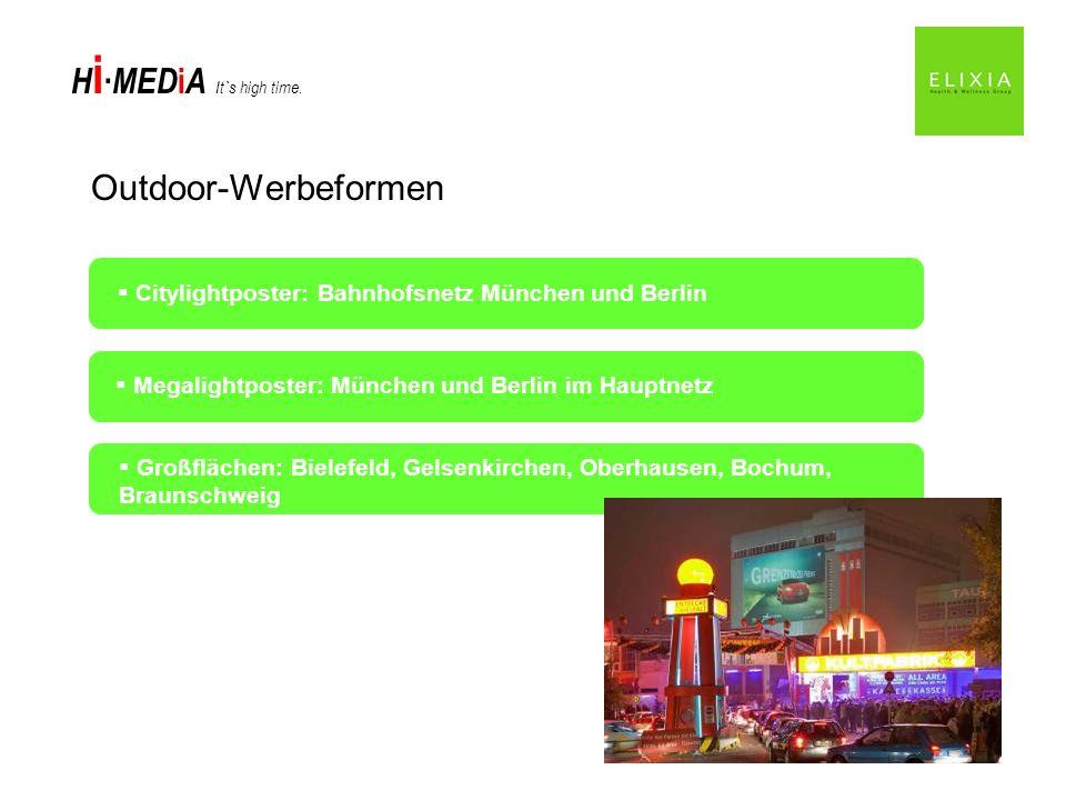 Outdoor-Werbeformen Citylightposter: Bahnhofsnetz München und Berlin