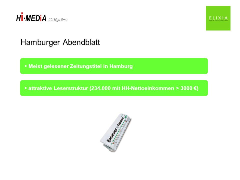 Hamburger Abendblatt Meist gelesener Zeitungstitel in Hamburg