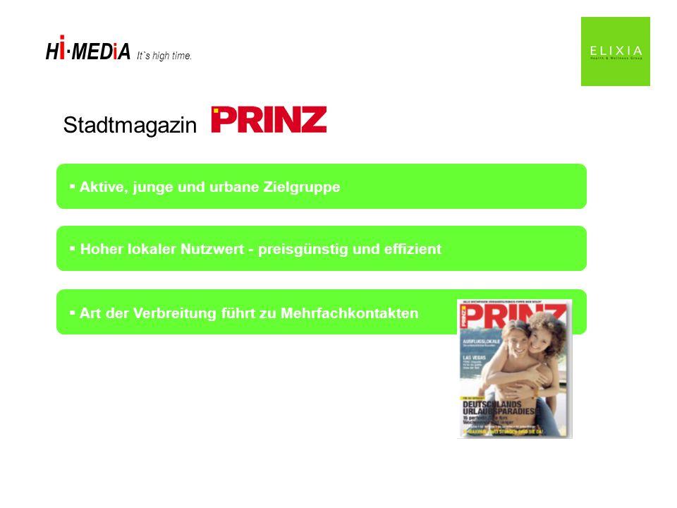 Stadtmagazin Aktive, junge und urbane Zielgruppe