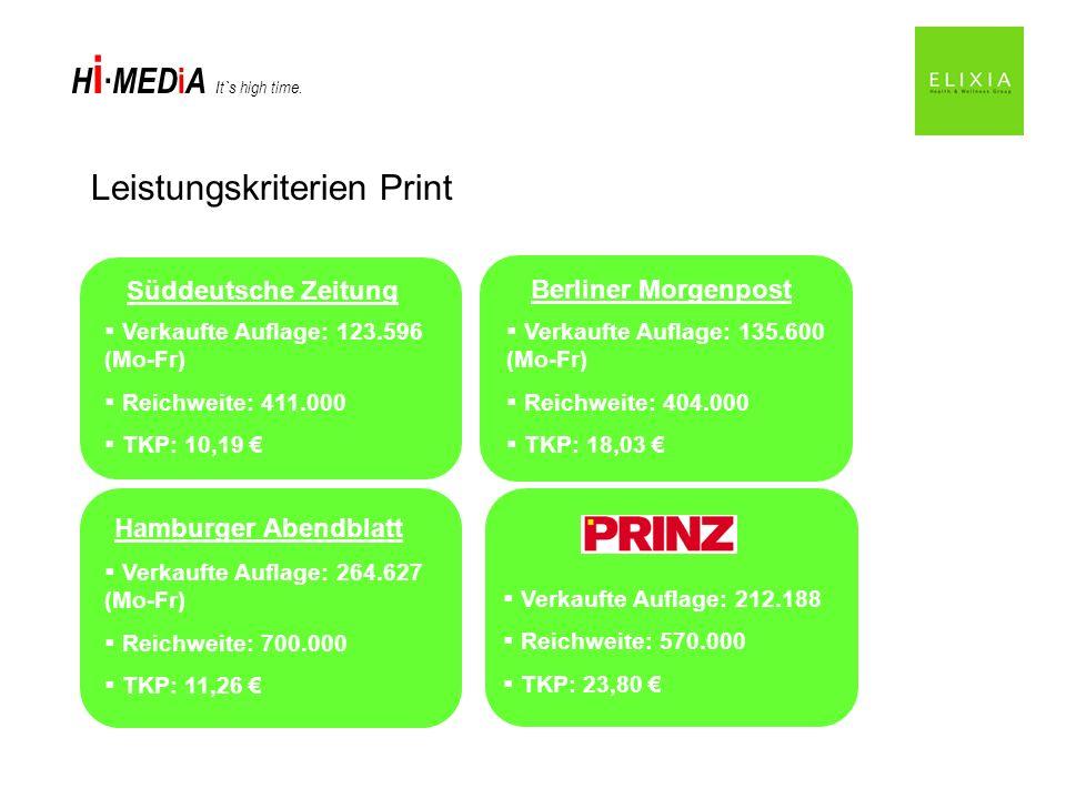 Leistungskriterien Print