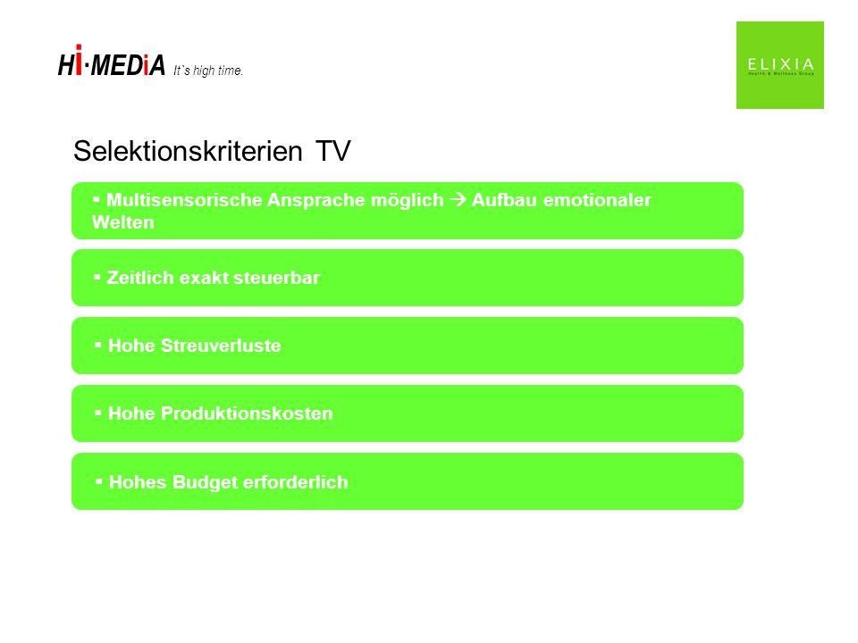 Selektionskriterien TV