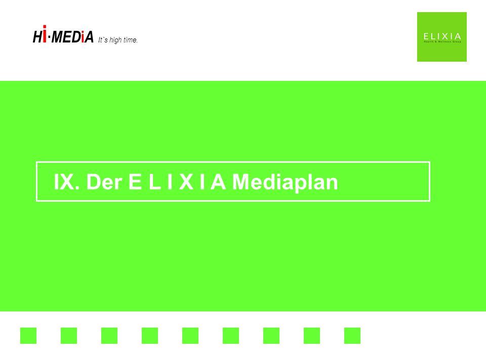 IX. Der E L I X I A Mediaplan