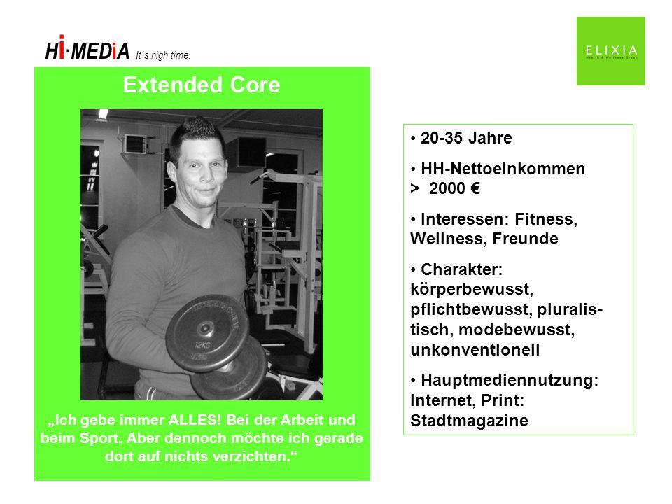 Extended Core 20-35 Jahre HH-Nettoeinkommen > 2000 €
