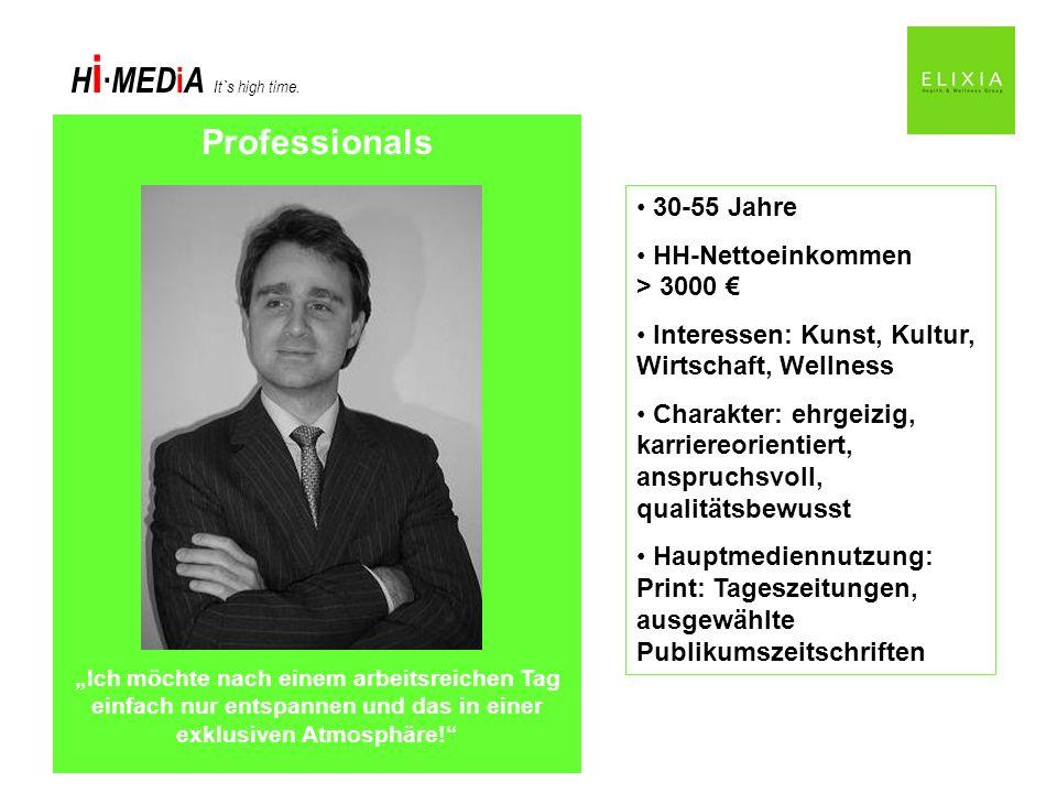 Professionals 30-55 Jahre HH-Nettoeinkommen > 3000 €