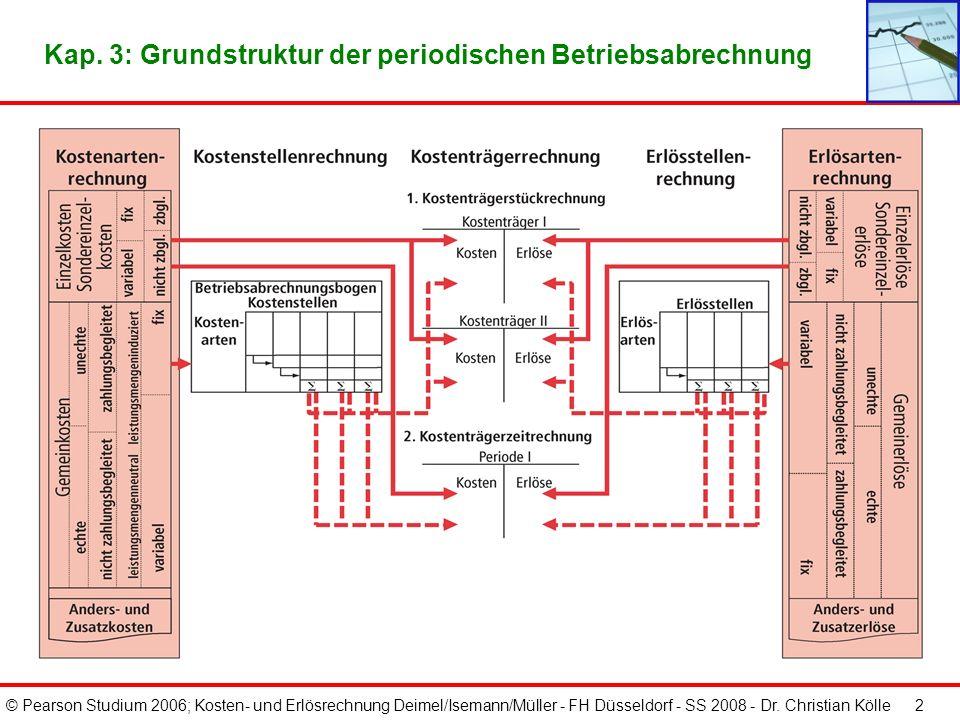 Kap. 3: Grundstruktur der periodischen Betriebsabrechnung