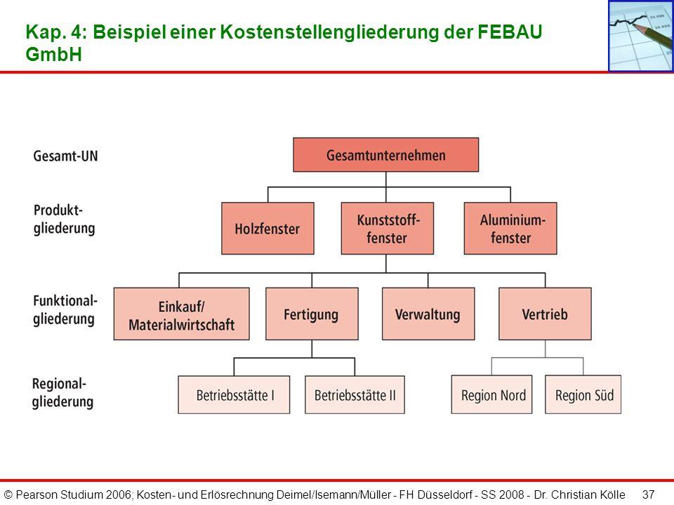 Kap. 4: Beispiel einer Kostenstellengliederung der FEBAU GmbH