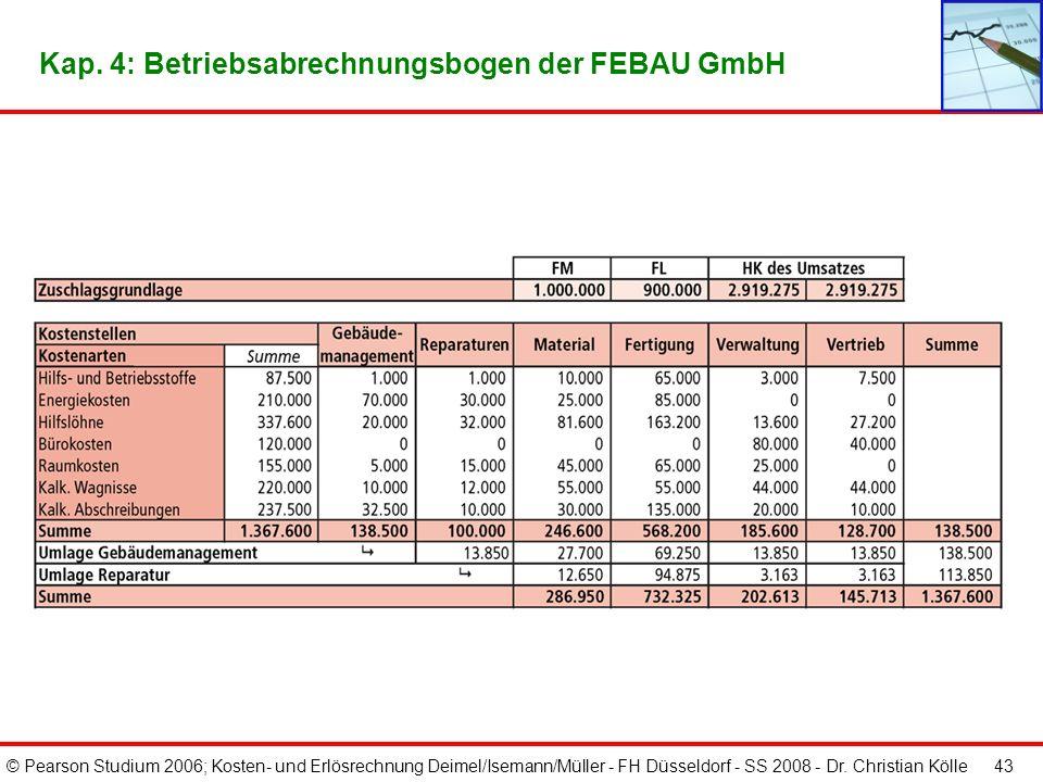 Kap. 4: Betriebsabrechnungsbogen der FEBAU GmbH
