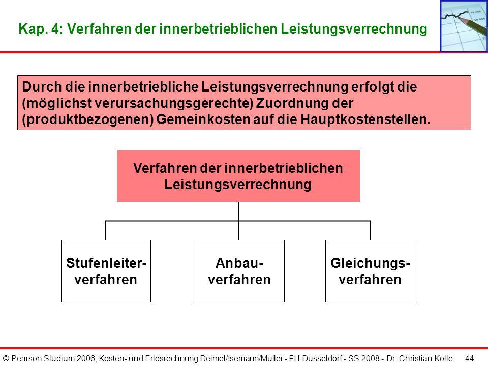Kap. 4: Verfahren der innerbetrieblichen Leistungsverrechnung
