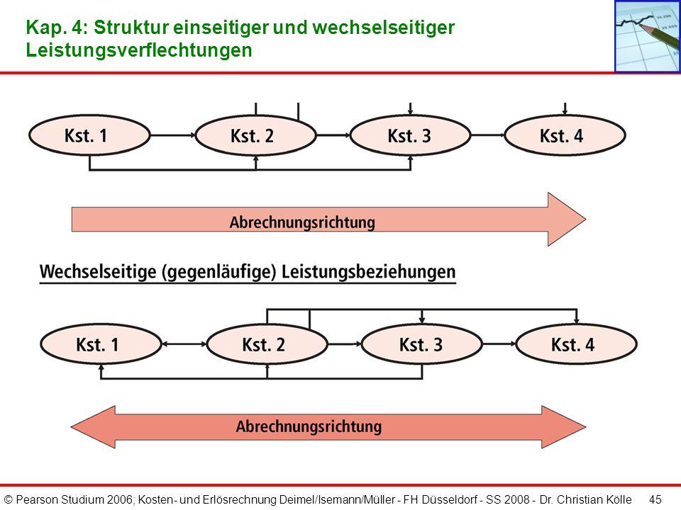 Kap. 4: Struktur einseitiger und wechselseitiger Leistungsverflechtungen
