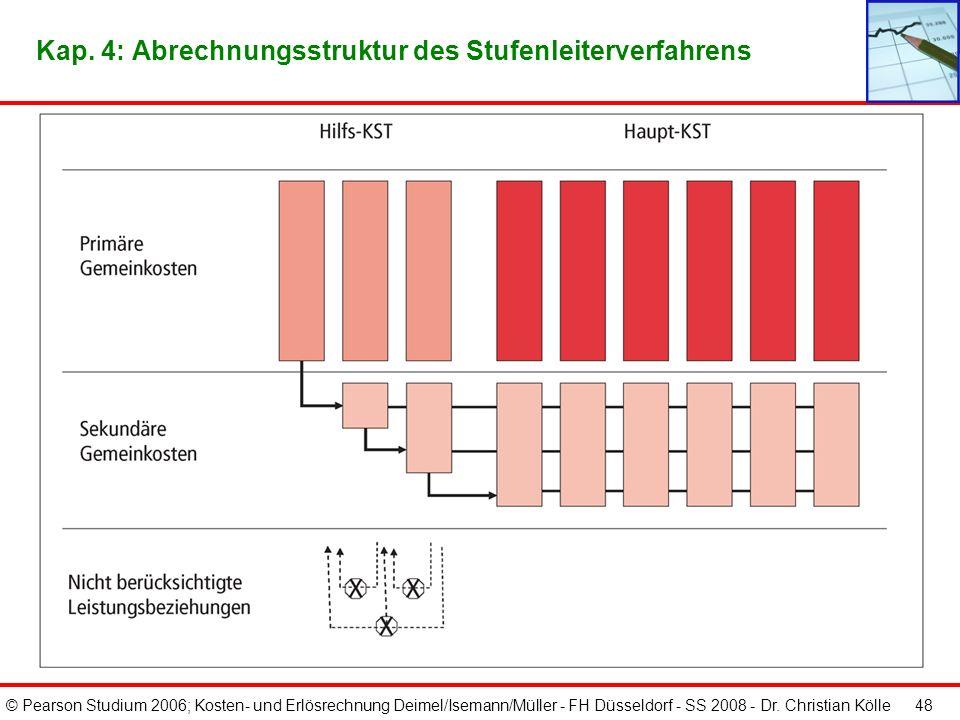 Kap. 4: Abrechnungsstruktur des Stufenleiterverfahrens