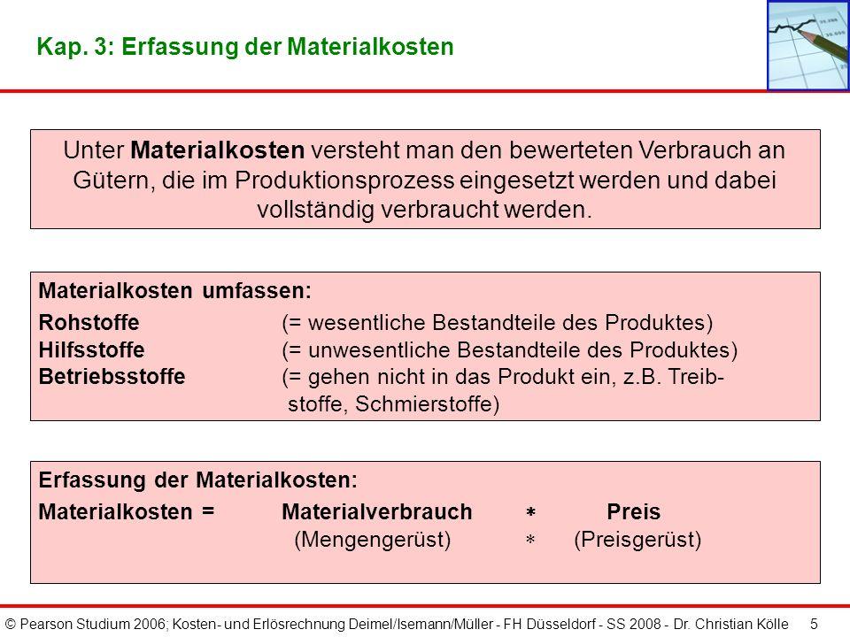 Kap. 3: Erfassung der Materialkosten