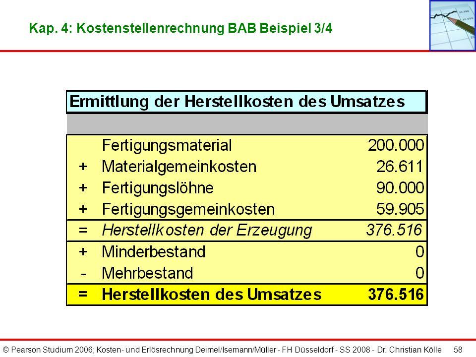 Kap. 4: Kostenstellenrechnung BAB Beispiel 3/4