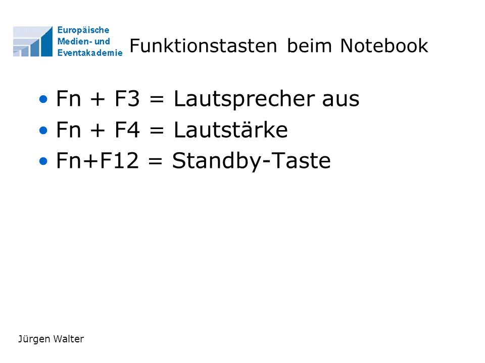 Funktionstasten beim Notebook