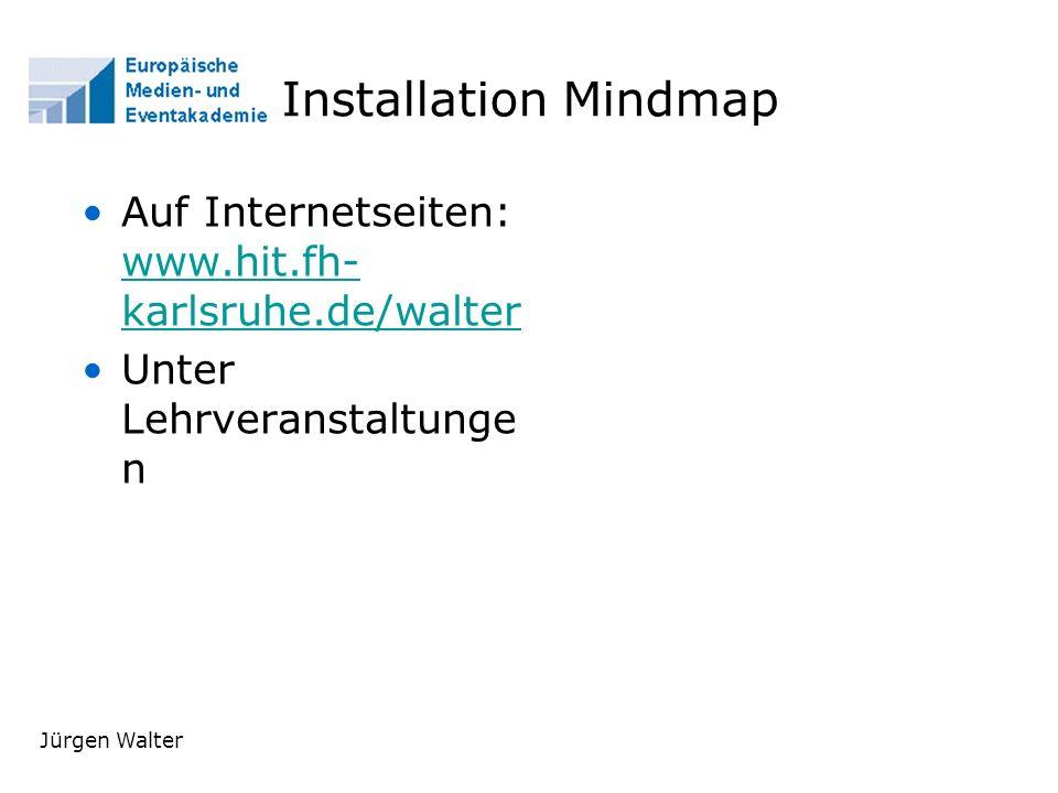 Installation Mindmap Auf Internetseiten: www.hit.fh-karlsruhe.de/walter. Unter Lehrveranstaltungen.