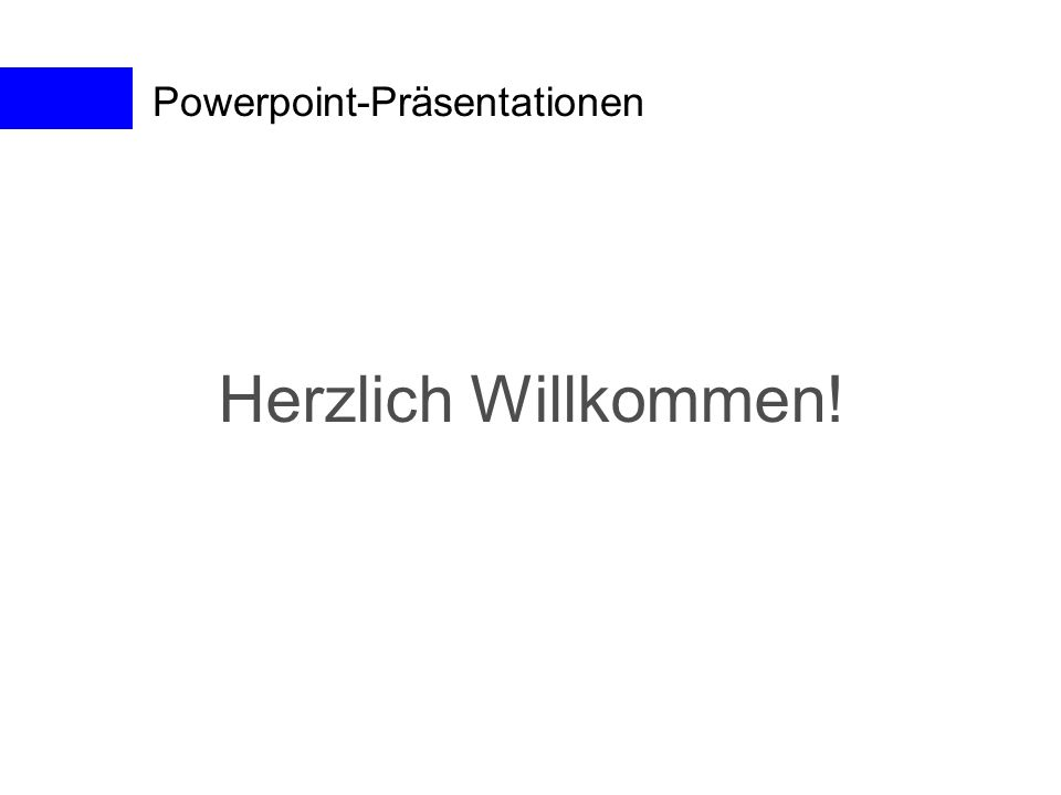 Powerpoint-Präsentationen