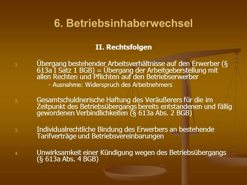 6. Betriebsinhaberwechsel