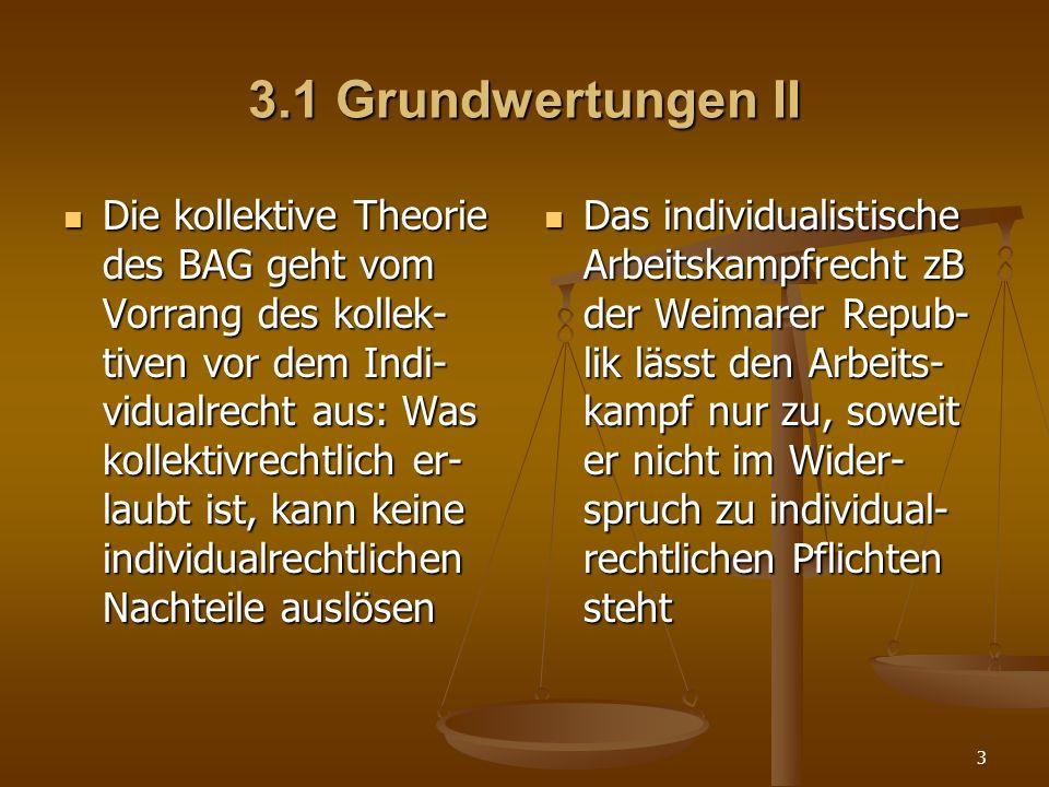3.1 Grundwertungen II