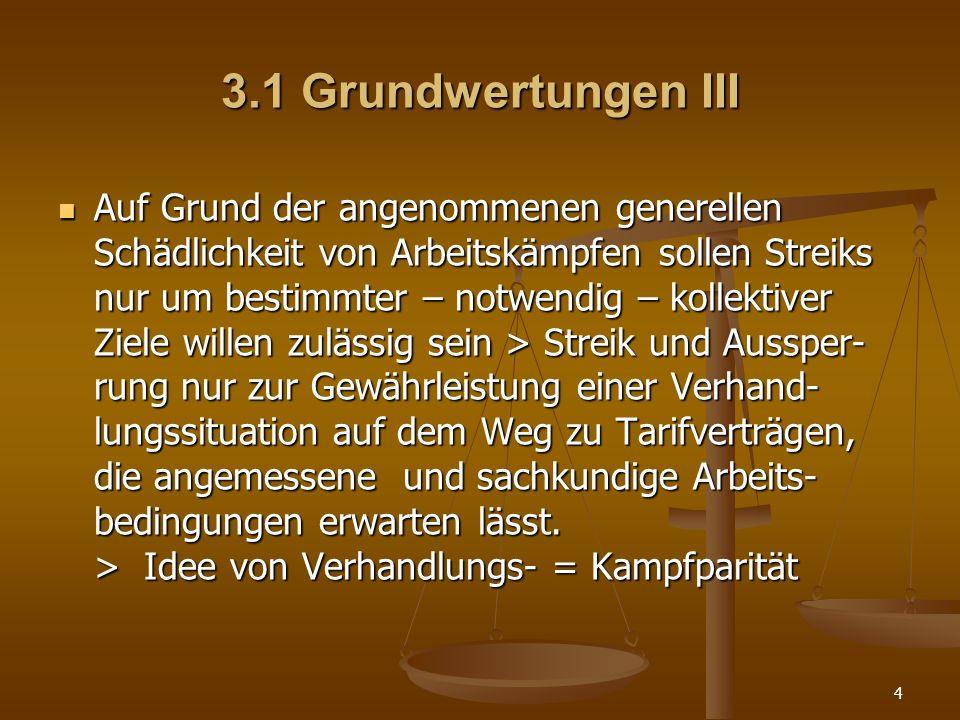 3.1 Grundwertungen III