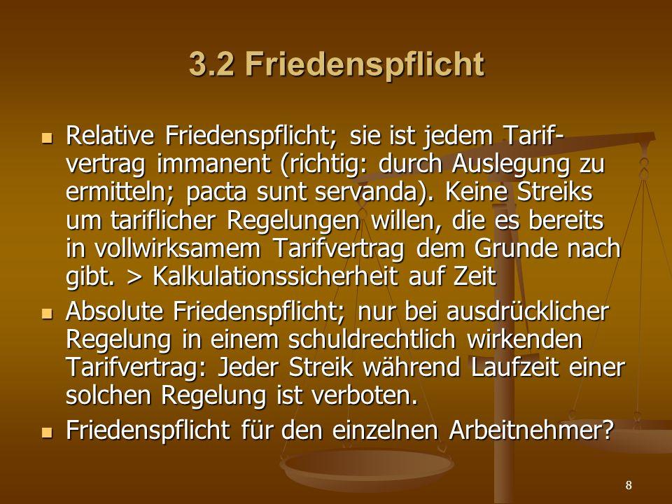 3.2 Friedenspflicht