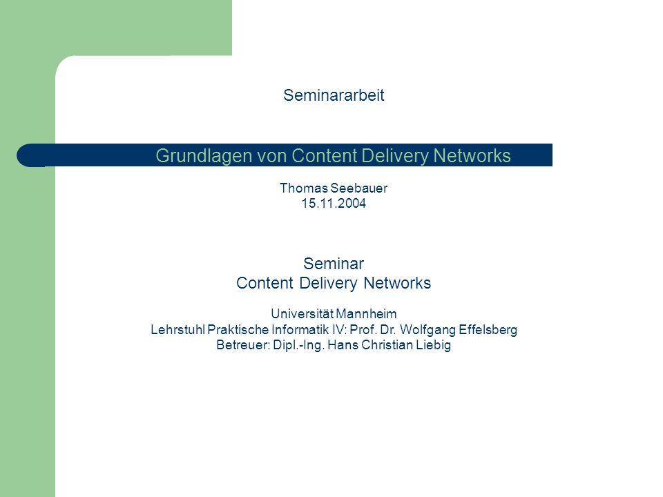 Grundlagen von Content Delivery Networks