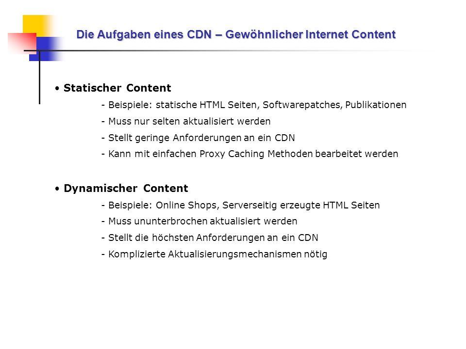 Die Aufgaben eines CDN – Gewöhnlicher Internet Content