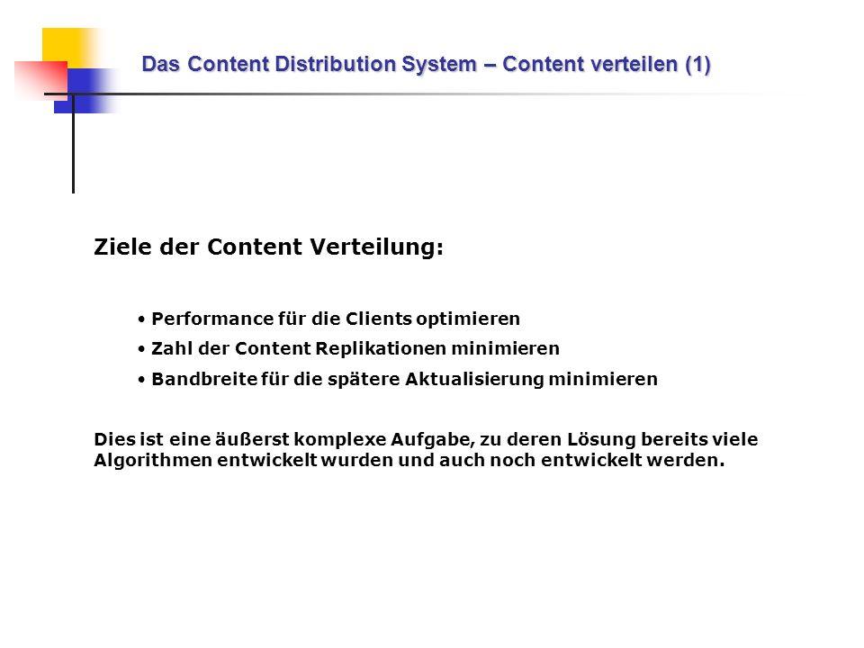 Das Content Distribution System – Content verteilen (1)
