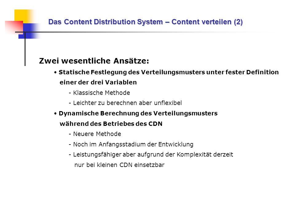 Das Content Distribution System – Content verteilen (2)