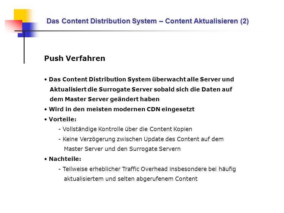 Das Content Distribution System – Content Aktualisieren (2)